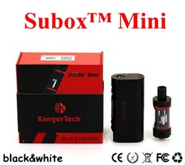 Kangertech Subox Mini Starter Kit with Subtank Mini sub ohm atomizers KBOX Mini 5W-50W battery 18650 MOD DHL free shipping in stock