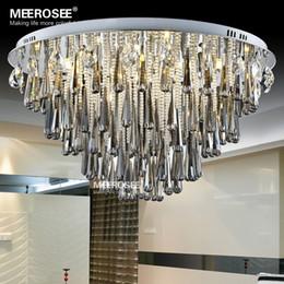 Round Crystal Light Fixture For Ceiling G4 Lustres de cristal Crystal lighting foyer Hallway Living Room Lamp Lamparas de Techo