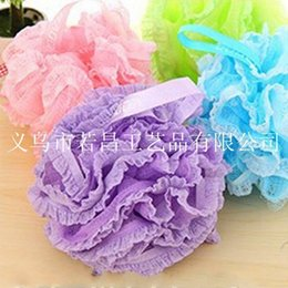 Wholesale 2015 Promotional Candy Color Body Wash Bath Ball Large Bath Sponge Diameter cm Bath Flower Mesh Bath ball brush sctubber JARNIER