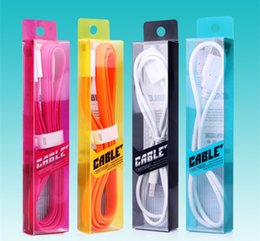 Colorful Plastic PVC Retail Package Box for Cell Phone USB Cable Dustproof Micro V8 Cables iPhone 6 5 Samsung Galaxy Note 4 3 2 LG HTC
