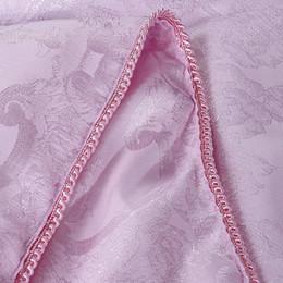 Edredones de seda pura en Línea-Venta al por mayor de alta calidad de 1,5 kg jacquard verano naturaleza pura seda edredón edredón de flores de color rosa tejidos de poliéster 180x220cm