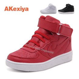 Wholesale Hot Sale Children Athletic Shoes Boys Leather Sneakers Girls Sport Shoe Child Casual Breathable Running Shoes for Cute Kids Size