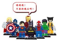 Wholesale Marvel Super Heroes Blocks Avengers Minifigures Iron Man Batman Building Block Sets Model Bricks Toys Legoe Compatible