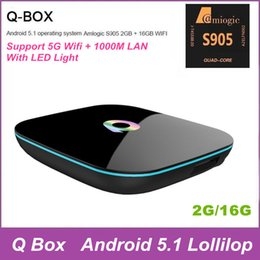 Wholesale Latest G G TV Boxes Q box Android S905 Quad Core MX Support Youtube Facebook Online Movies Channels Smart Internet TV Box