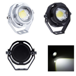 Wholesale Strobe Flashing Car Headlights - 1PCS Waterproof 3 Mode 10W Strobe Flashing Eagle Eye LED Car Light DRL Warning warm Cool White Light Led Work Lamp Headlight