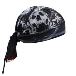 Wholesale-Men cycling skull bike bandana scarf headband hats bicycle head wear cap 2015 men