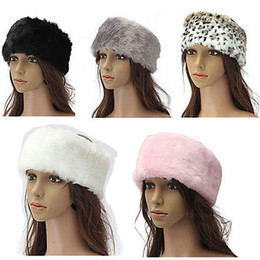 Wholesale Fashion Ladies Fur Wrap Around Headband Head Band Ear Muffs Ski Warmer Hood Gift