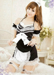 Sexy lingerie Maid equipment Costume plus size sexy set gauze