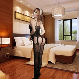 Wholesale Hot Tight Fully Transparent Open Crotch Bodystocking Porn Sexy Lingerie New Adult Sex toys Sex Clothes for Women Bodysuit