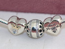European Style Jewelry Charm Bracelets 2015 New Autumn 925 Sterling Silver Charms and Murano Glass Bead Set with Charm Box- Forever
