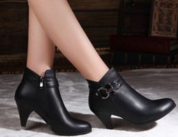 Wholesale-Best-selling new autumn and winter boots ankle boots fashion genuine leather boots shoes women with round shoes Plus Size 42