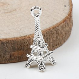 Wholesale Hot sell MIC Silver Plated Stylish D Paris Eiffel Tower Alloy Small Charms Pendants mm mm L448