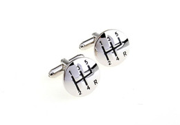 Wholesale Stainless Steel Car Shift Gear Cufflinks for Men Gearbox Cufflinks French Cufflinks Wedding Cufflinks Fathers Day Gifts