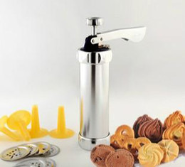 Wholesale New children cookie extrusion machine stainless steel biscuit machine set with extrusion nozzle and kinds of pattern freeshipping