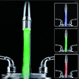 LED Faucet Light Temperature Control Sensor Sink Tap Glow LED RGB Faucet Lights Shower Lamp 3-Color Water Glow Tap LED Faucet Light For Home