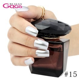 Wholesale Awesome Metallic UV Gel Nail Polish Lacquer ml Long Lasting Soak Off Gel Polish Metal Effect Varnishes Nails Art Beauty Care Manicure Tools