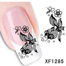Wholesale summer style beauty manicure black bee cartoon manicure nail art stickers water decals designer water transfer art
