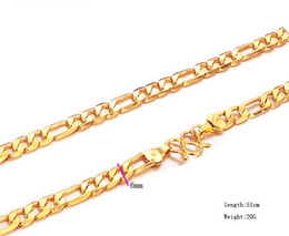 Wholesale Price 20inches 20g 18K Solid Yellow Gold Filled Plated Mens Link Necklace Chain Long Necklace Men Jewelry