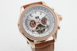 Wholesale hot gift brown belt date Promotion cheap Selling fashion new Mechanics brand men watch stainless steel uxury wristwatch men s Watches