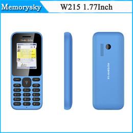 Wholesale In stock Cheap Mobile Phone W215 MP3 Camera Elder People Dual SIM Big Keyboard Loud Speaker Inch Screen Bluetooth high quality