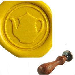 Vintage Cute Kettle Sealing Wax Seal Stamp for Wedding Invitation
