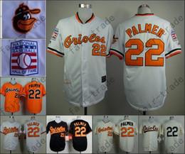 Jim Palmer Jersey Vintage Baltimore Orioles Throwback Jerseys White Cream Orange Black