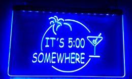 LS014-b ITS 500 SOMEWHERE MARGARITA NEON Bar Light Sign