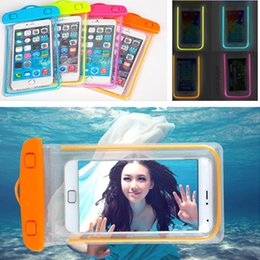 Wholesale Universal Clear View Waterproof Bag Luminous Noctilucent Phone Case Cover Water Proof Puch For Mobile Phone i6 plus iphone