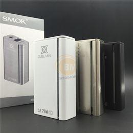 Wholesale 100 Authentic Smok X cube mini box mod Xcube mini w E Cigarette Temp Control Vapor Mod Vs Koopor Mini Knight Kit Quantum W Mod