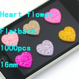 Wholesale Flower Heart Shape mm Imitation Heart Shape Flower Pearls Perfect For Craft Art Scrap Booking Diamante Diy