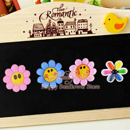 Wholesale Big Flower funny Refrigerator stickers cartoon Fridge magnets Stickers Kitchen Memo Kids love