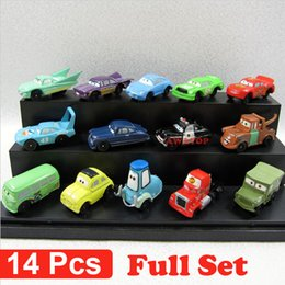 Wholesale 14Pcs set cars pixar cars pvc figure action toy car model kids classic toys for children mack truck mater sally sheriff