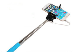 Monopod Extendable Self Timer Handheld With Cable Z07-5 plus With Groove Cable Take Pole Monopod selfie stick For Iphone 6 Samsung s6 S5