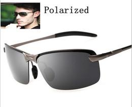 Descuento lentes polarizadas Las gafas de sol calientes de los hombres 2015 polarizaron la alta calidad A ++++ de los deportes al aire libre de la pesca de los deportes al aire libre de la pesca de los hombres del espejo del conductor del espejo del conductor