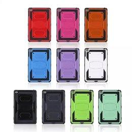 Compra Online Silicio w-25pcs para el favorable caso resistente pesado híbrido de la caja de la armadura del defensor del favorable mini 4 mini4 del caso X del estilo de plástico + Silicón con el soporte de Kickstand