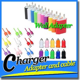 Wholesale Cell Phone Cables Charger Wall Travel Home Car Adapter Data Charging Cable for V8 For G s