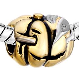 Scar Jack O Lantern 2016 Halloween Pumpkin bead in Rhodium and gold Plating European Fits Pandora Charm Bracelet