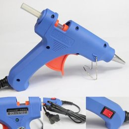 Wholesale DIY Blue Electric Heating Hot Melt Glue Gun Sticks Trigger Art Craft Repair Tool