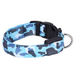 Wholesale Pet Collar For Dog LED Glow Necklace Pet Shop Products For Animals Collar Perro Cachorro Lighted Cat Camouflage LED Dog Collar