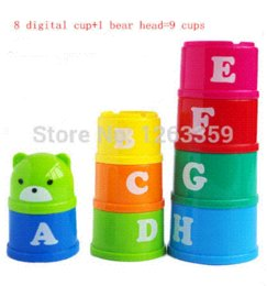 Wholesale Baby educational toy stacking and nesting toy Folding cups stack up cups Toy Cup Blocks Cheap Blocks