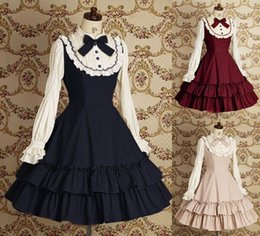 Wholesale New Japan Cosplay Anime Costumes Victorian Gothic Lolita Dress Halloween Real Picture Long Sleeve Women Skirt Drop Shipping