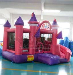 Wholesale YARD princess bouncy castle inflatable bouncer bounce house slide jumper with blower