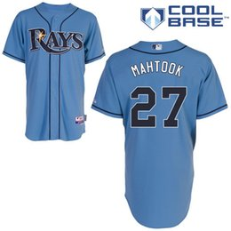 Wholesale Tampa Bay Rays Mikie Mahtook Authentic Baseball Jerseys Embroidery stitched onfield US Sport Shirt Home Color Top Quality