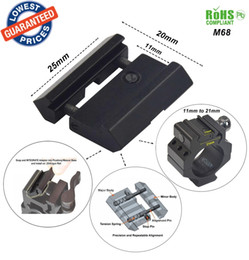 Wholesale ALONEFIRE M68 for universality Hunting Scope Mount Rail mm mm to mm mm Weaver Picatinny Conversion Adapter