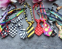 Wholesale Scarf Jewelry Chain Charm - 200pcs lot Multicolor Pet Tie Dog Bow Ties Cat Triangle Scarves Pet Jewelry 27 color 8g Polyester Free Shipping