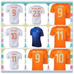 Wholesale New Product Netherlands Thailand V Persie Van Basten Gullit Sneijder Robben Cruyff Blue Huntelaar Orange Jerseys Soccer Jersey