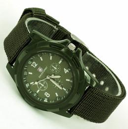 Descuento reloj del ejército suizo deporte militar Mayorista-HK POST , de Lujo Verano Fresco 1Pcs HOMBRES+MUJERES franja Verde, a PRUEBA de AGUA de Color Militar del Ejército Correa de Tela de Deportes de los Hombres#039;s de relojes Suizos