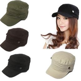 Wholesale New Women Men Snapback Vintage Army Hat Cadet Military Patrol Cap Adjustable Outdoor Baseball Cap Unisex Hats