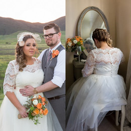 Outdoor wedding dresses plus size