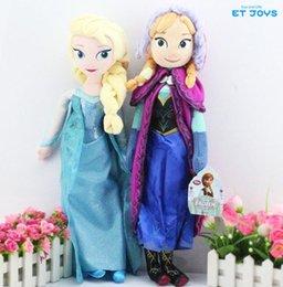 Wholesale 2PCS Doll Elsa and Anna Plush Toys Sets Retail New cm inch Plush Doll Kids Dolls Christmas Gift